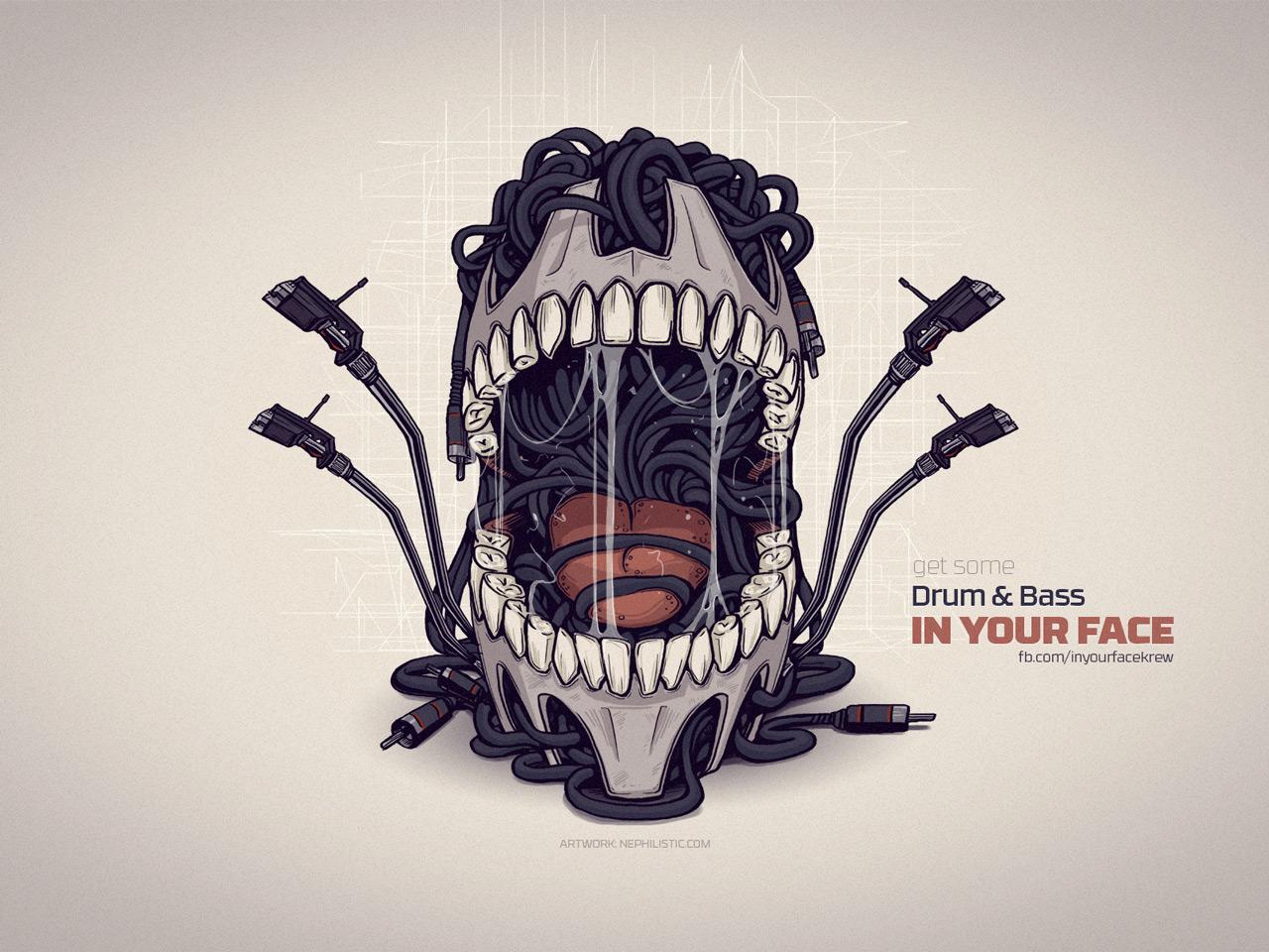 Poster design illustrator - Basseater Poster Illustration Get